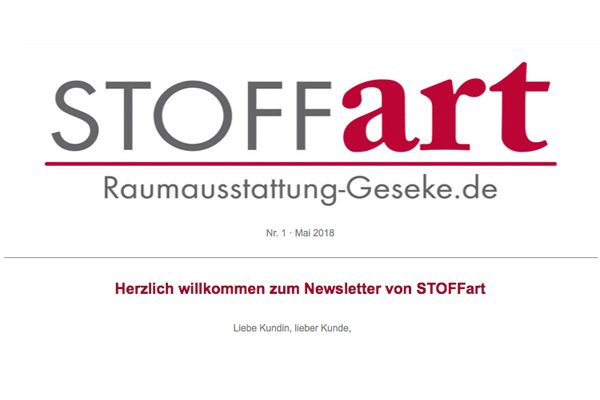 STOFFart Newsletter
